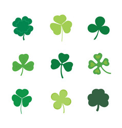 set of four and three leaf clover stock vector image