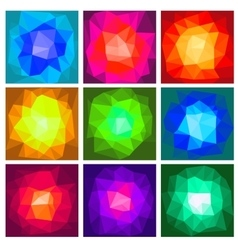 Set polygon abstract vector image