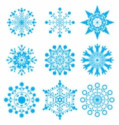 snow-flakes vector image