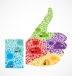 Social media thumb up design vector