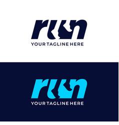 Sport club running club labels vector
