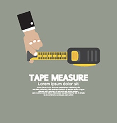 Tape Measure With Mans Hand vector