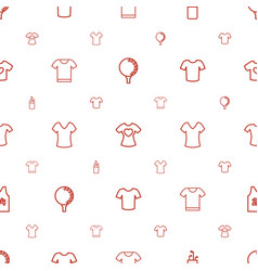 Tee icons pattern seamless white background vector