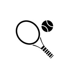 tennis racket black icon sign on isolated vector image