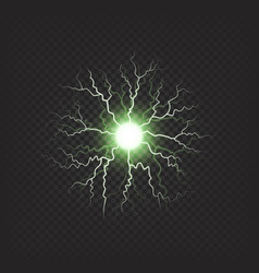 Thunderstorm ball with lights colorful shiny vector