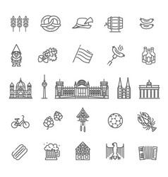Traditional symbols of culture architecture vector