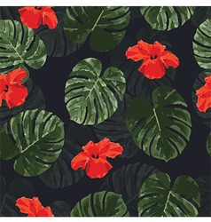 Tropical pattern vector image