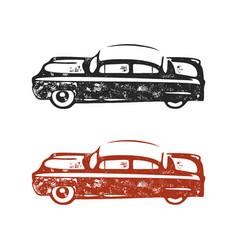 Vintage hand drawn car retro car symbol design vector