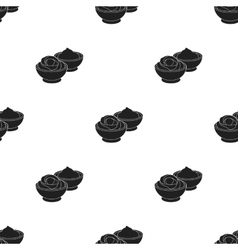 Wasabi and ginger icon in black style isolated on vector