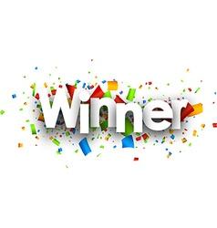 Winner paper banner vector