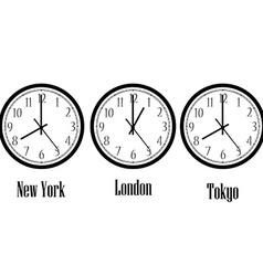 World time clocks vector