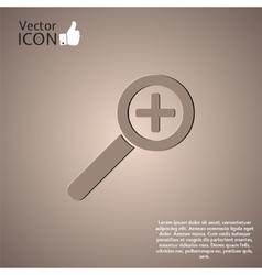 Zoom in web icon vector image
