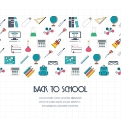 Back to school banner background concept with vector image