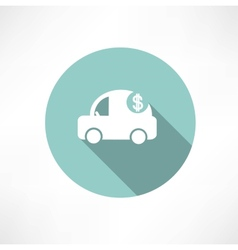 Car icon with dollars vector