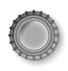 beer cap metallic bottle cap isolated on vector image