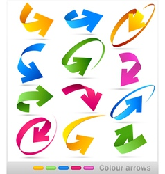 collection of colour arrows vector image vector image