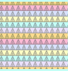 Pastel multicolor seamless pattern with triangles vector