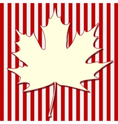 White Maple Leaf vector image vector image
