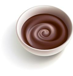 Dark molten chocolate vector image