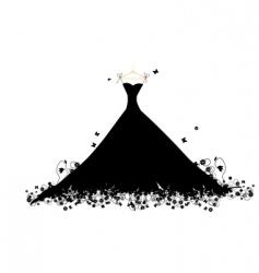 dress black vector image vector image