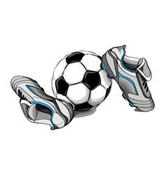 football boots ball vector image vector image