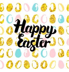happy easter handwritten card vector image vector image