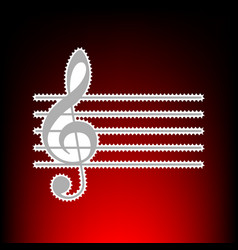 music violin clef g-clef vector image