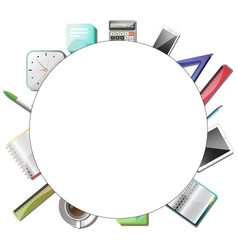 office or education tools vector image vector image