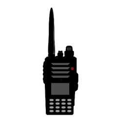 Walkie talkie or police radio or radio vector image vector image