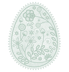 lace Easter egg vector image