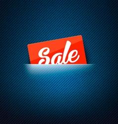 Sale label in poket card vector image vector image