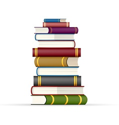 Stack of multi colored books vector image