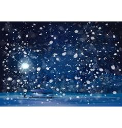 winter lantern night vector image vector image