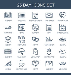 25 day icons vector
