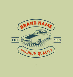 a template of classic or vintage or retro car vector image