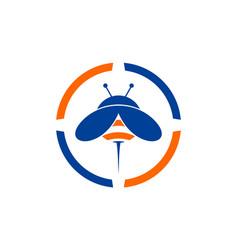 abstract bee logo concept icon vector image