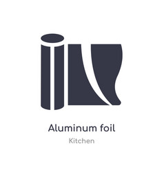 Aluminum foil icon isolated aluminum foil icon vector