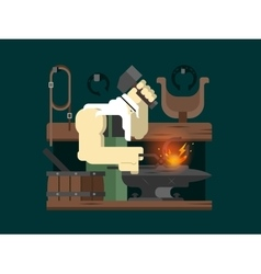 Blacksmith character cartoon vector