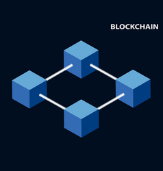 blockchain concept global cryptography in the vector image