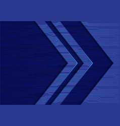 Blue arrow direction circuit pattern vector