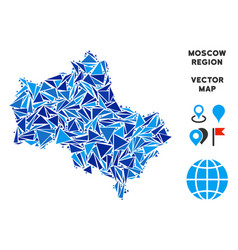 Blue triangle moscow oblast map vector
