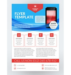 Business Flyer Design Template for Mobile vector