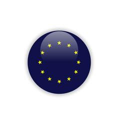 button europe flag template design vector image