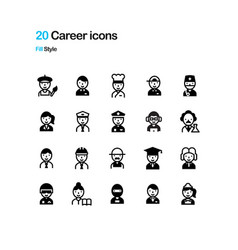 Career fill icon vector