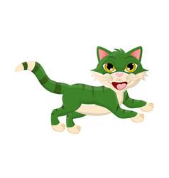 cartoon jumping cat symbol icon design vector image