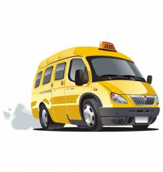 cartoon taxi bus vector image