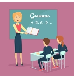 Children s Grammar Teaching vector