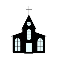 church icon easter label on white background vector image