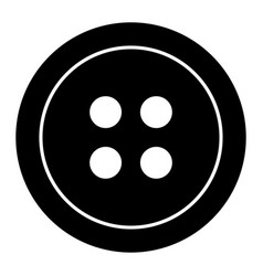 Clothing button the black color icon vector