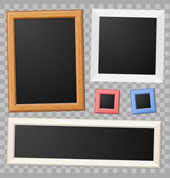 collect photo frame mockup vector image